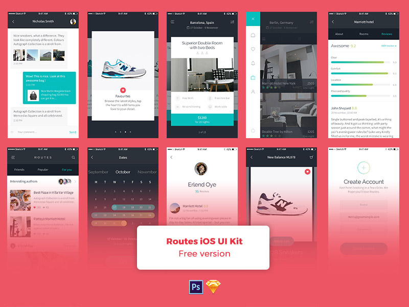 Collection 17: Big iOS UI Kits for Sketch | Sketchapp TV | The best