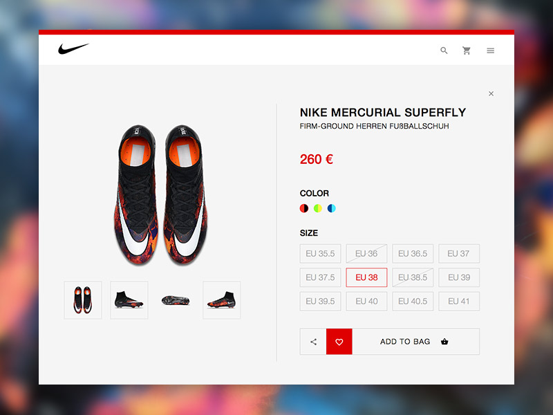 Nike Store Redesign UI