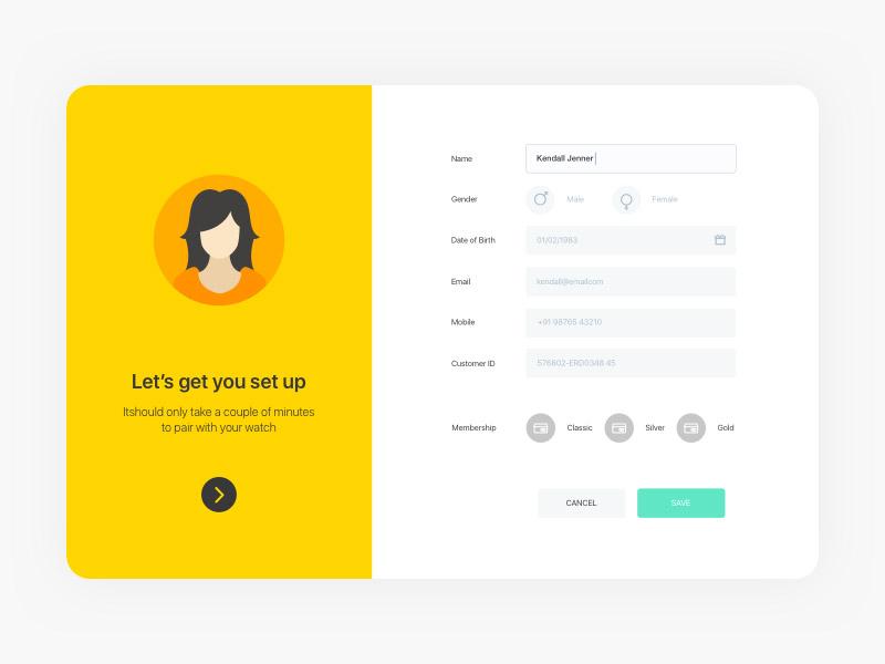 Profile UI (Freebie)