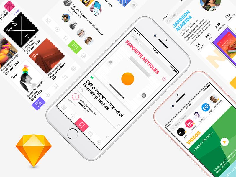 Design Social Network — Sketch FREEBIE