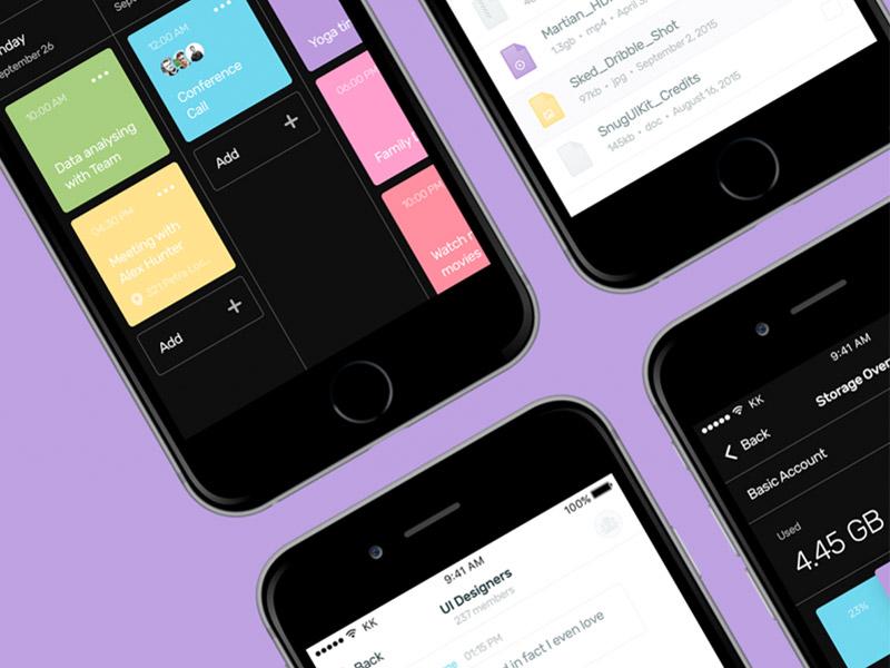Sked Mobile UI Kit