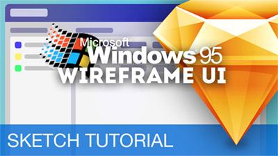 Microsoft 95 Wireframe & Prototype UI