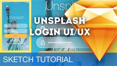 Unsplash App Log-In UI/UX