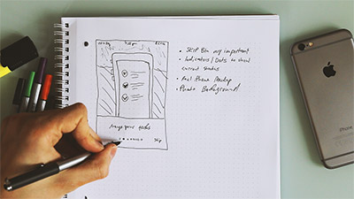 Sketching an Onboarding & Sign Up User Interface